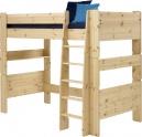 Vyvýšená postel Dash II 90x200 cm - borovice/lak