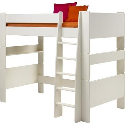Vyvýšená postel Dash II 90x200 cm - MDF/bílá 083324