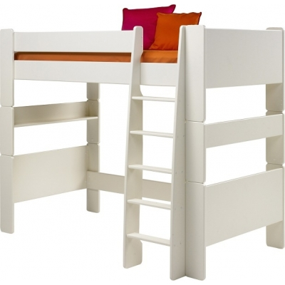 Vyvýšená postel Dash II 90x200 cm - MDF/bílá
