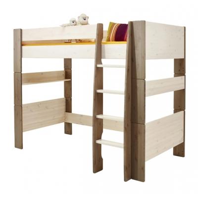 Vyvýšená postel Dash II 90x200 cm-borov/bílá/stone