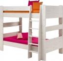 Patrová postel Dash 90x200 cm - borovice/bílá
