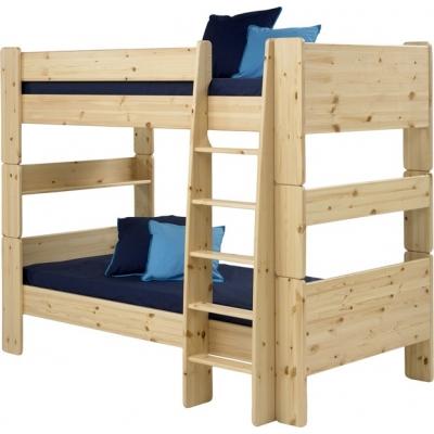 Patrová postel Dash 90x200 cm - borovice/lakovaná