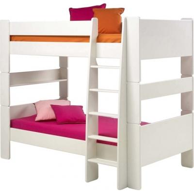 Patrová postel Dash 90x200 cm - MDF/bílá
