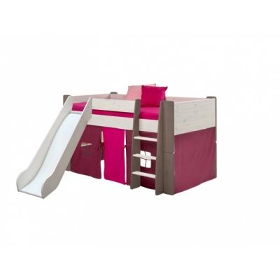 Textilie k vyvýšené posteli Dash - lila/růžová