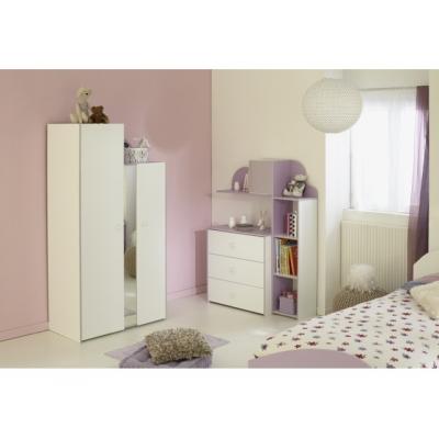 Dětský pokoj pro holky Nisi II - bílá/fialková