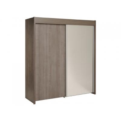 Šatní skříň Sam - ořech stříbrný