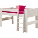 Vyvýšená postel Dash 90x200 cm - borovice/bílá