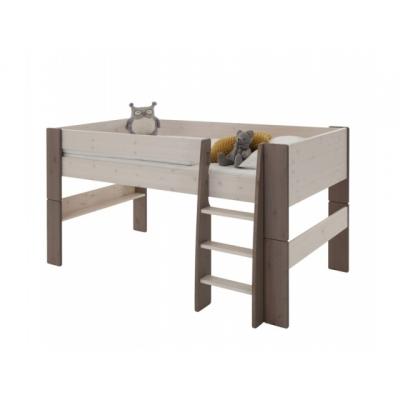 Vyvýšená postel Dash 90x200 cm - borovice/stone