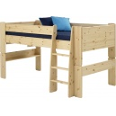 Vyvýšená postel Dash 90x200 cm - borovice/lak
