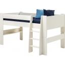 Vyvýšená postel Dash 90x200 cm - MDF/bílá