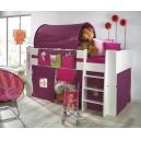 Zvýšená postel Dash komplet - bílá/lila