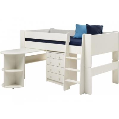 Multifunkční  postel Dash - bílá
