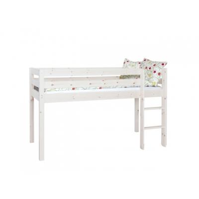 Vyvýšená postel Alois (výška 120cm) - masiv/bílá 083455