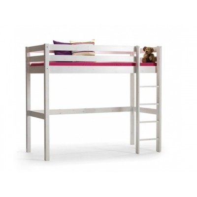 Vyvýšená postel Alois (výška 175cm) - masiv/bílá 083457