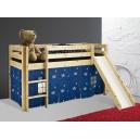 Vyvýšená postel se skluzavkou Alois - masiv