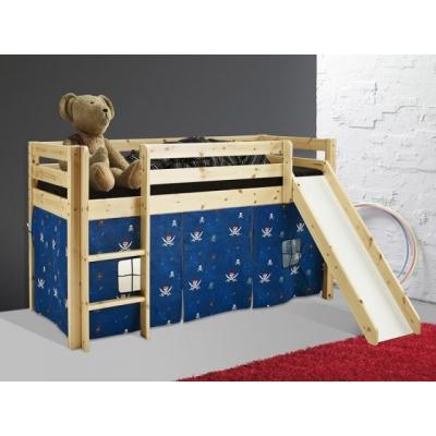 Vyvýšená postel se skluzavkou Alois - masiv 083463
