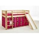Vyvýšená postel s textilním domečkem Alois - masiv