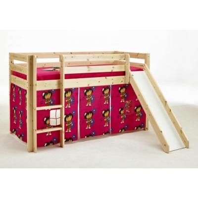 Vyvýšená postel s textilním domečkem Alois - masiv 083465