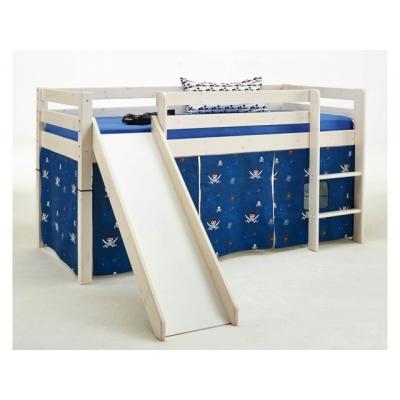 Vyvýšená postel Alois - KOMPLET I- masiv/bílá 083466