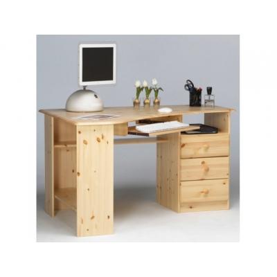 Rohový psací stůl Keren - masiv