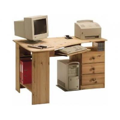 Rohový psací stůl Keren - masiv/olejovaný 083526