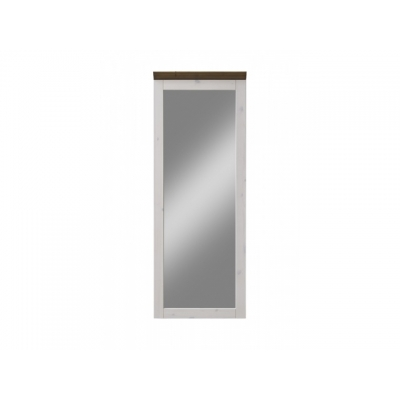 Zrcadlo Moris - bílá/ hnědá