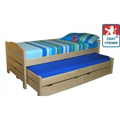 Dětská postel s přistýlkou Hanka - z masivu