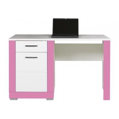 Dětský psací stůl Julien - bílá/růžová 083630