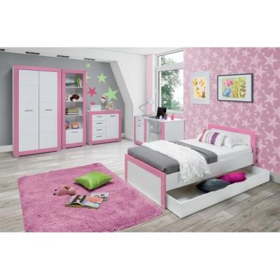 Dětský pokojl Julien -  bílá/růžová