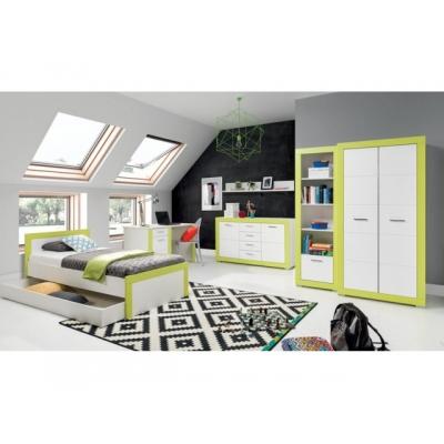 Dětský pokoj Julien - bílá/zelená