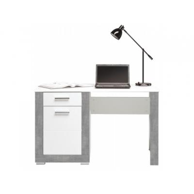 Dětský psací stůl Julien -  bílá/šedá
