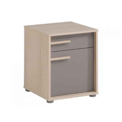 Noční stolek Crap - buk/šedá 301510