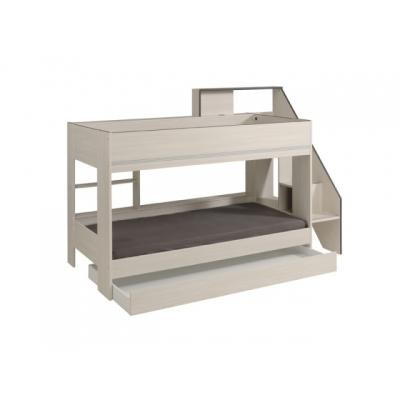 Patrová postel s přistýlkou Lenička - světle šedá 301656