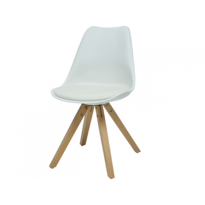 Židle Fashion - bílá/masiv