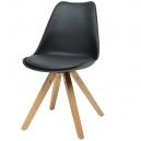 Židle Fashion - černá/masiv