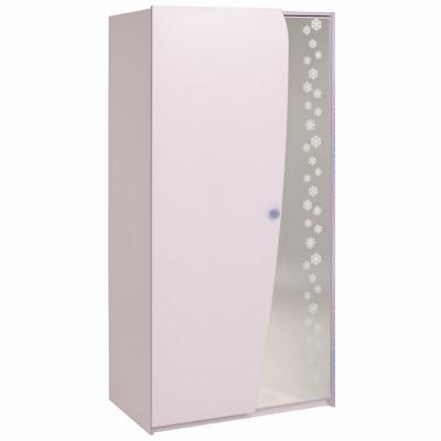 Dětská šatní skříň Winter - světle růžová/fialková 301742