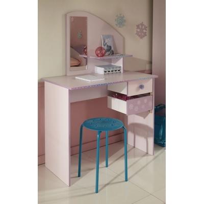 Dětský psací stůl Winter - světle růžová/fialková