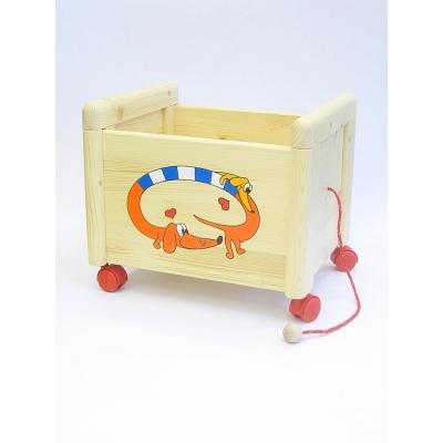 Box na hračky Box na hračky Jezevčík oranžový KON 1 Kontejner