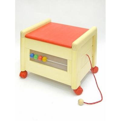 Dřevěný box na hračky s víkem K 1 Kontejner