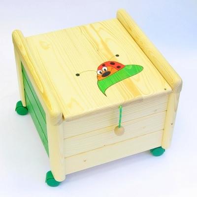 Dřevěný Box na hračky s víkem Beruška KV 5 Kontejner