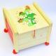 Dřevěné truhly na hračky s víkem Tráva
