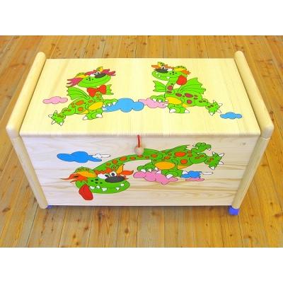Dřevěná truhla na hračky Dráčci TR 6 Truhla dráčci