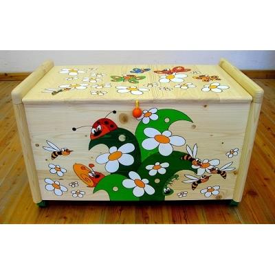 Dřevěná truhla na hračky Louka TR 4 Truhla louka
