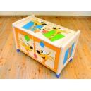 Dřevěný box na hračky bez víka