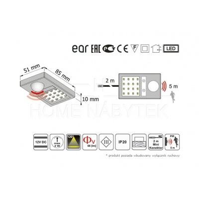 LED osvětlení se senzorem TA-01 083738
