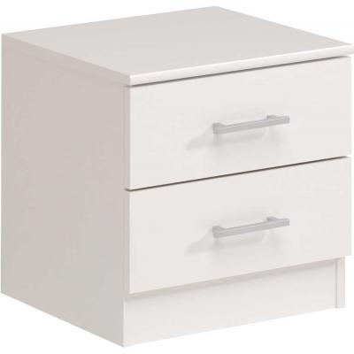 Noční stolek General 2 šuplíky - bílý