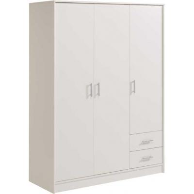 Šatní skříň General 3D2S - bílá 300169