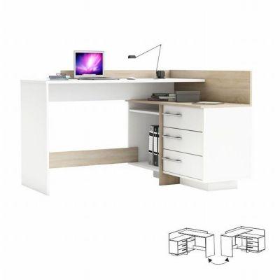 PC stůl L/P rohový - Bona - dub sonoma