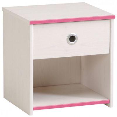 Dětský noční stolek Smoozy - modrá, růžová