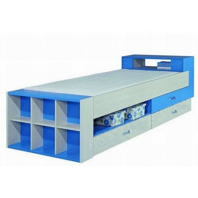 Dětská postel s úložným prostorem Adéla - modrá
